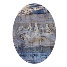USA, Georgia, Stone Mountain, Bas- Ornament (Oval)