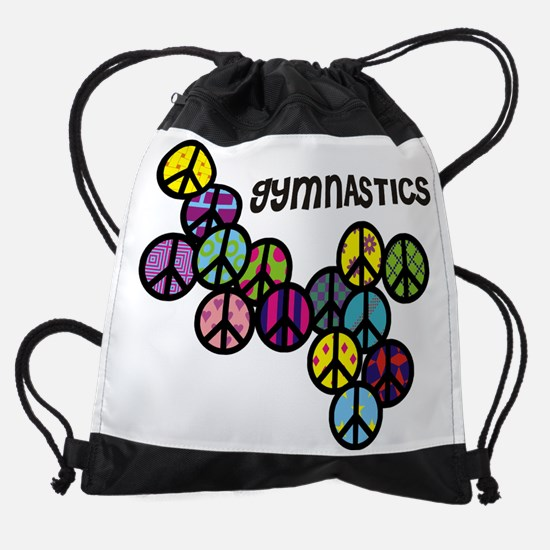 peacesignswithcolorfulfill-gymnasti Drawstring Bag