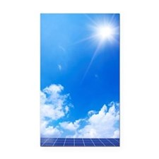 Blue Sky and Sun Over Solar P Rectangle Car Magnet