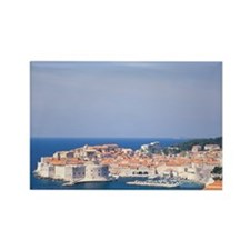 Croatia, Dubrovnik, walled old ci Rectangle Magnet