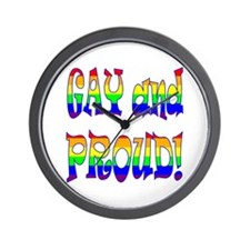 GAY and PROUD! Wall Clock