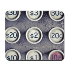 Dollar and cent sign Mousepad