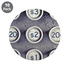 "Dollar and cent sign 3.5"" Button (10 pack)"