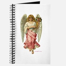 Pink Victorian Angel with Flowers Journal