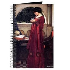 Woman in Red Crystal Ball Magical Journal