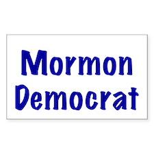 Mormon Democrat Rectangle Decal