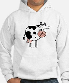 Black and White Cow Hoodie