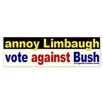 Annoy Rush Limbaugh Bumper Sticker