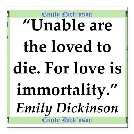 Unable Are The Loved - Dickinson Square Car Magnet