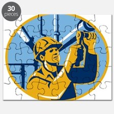 Pipefitter Maintenance Gas Worker Plumber Puzzle