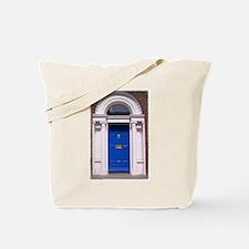 Blue Dublin Door Tote Bag