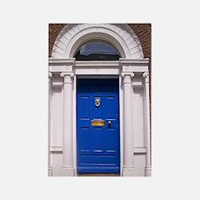 Blue Dublin Door Rectangle Magnet