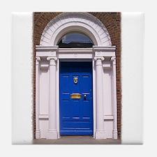 Blue Dublin Door Tile Coaster