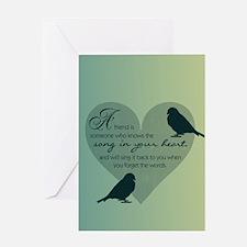 Bird Friends Greeting Card