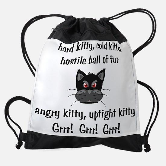 HardColdKitty.png Drawstring Bag