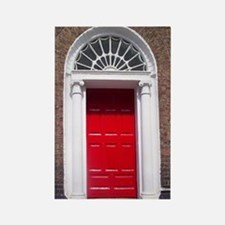 Red Dublin Door Rectangle Magnet