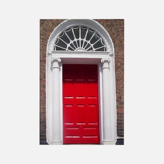 Red Dublin Door Rectangle Magnet