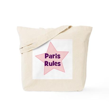 Paris Rules Tote Bag