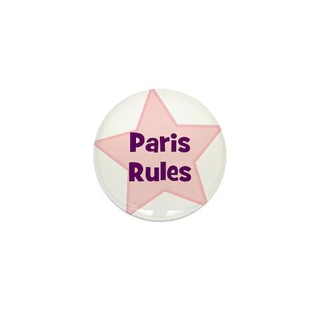 Paris Rules Mini Button