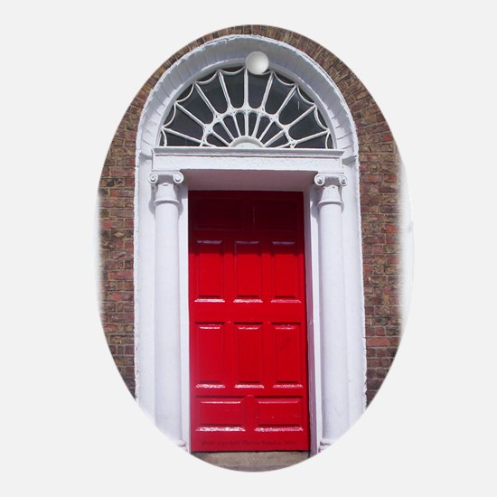 Dublin Red Door Oval Ornament