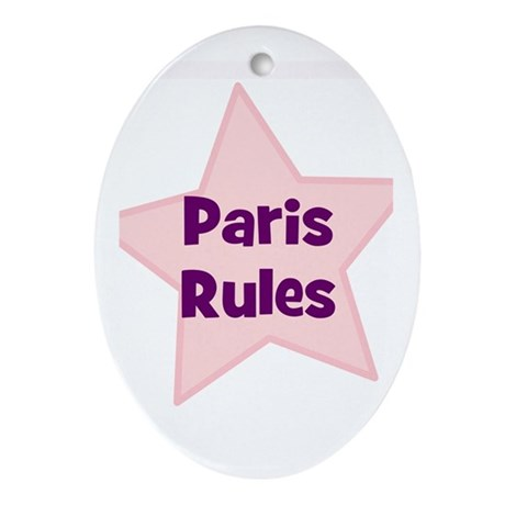 Paris Rules Oval Ornament