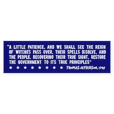 Anti-Bush T. Jefferson Quote -Bumper Bumper Sticker
