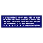 Anti-Bush T. Jefferson Quote -Bumper Sticker