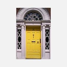 Yellow Dublin Door Rectangle Magnet