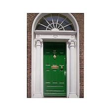 Green Dublin Door Rectangle Magnet