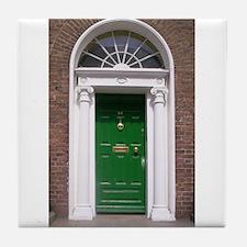Green Dublin Door Tile Coaster