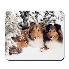 Snow Shelties Mousepad