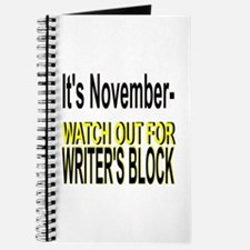 It's November Watch Out for Writer's Block Journal