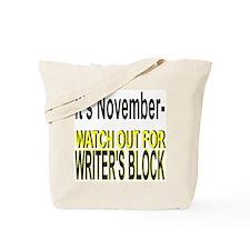 November Writer's Block Tote Bag