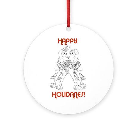 HoliDANES Ornament (Round)