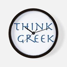think greek Wall Clock