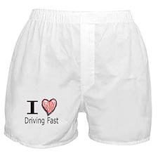 I Heart Driving Fast Boxer Shorts