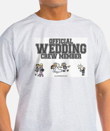 Official Wedding Crew Ash Grey T-Shirt