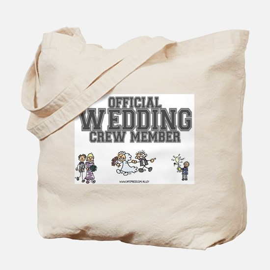 Official Wedding Crew Tote Bag
