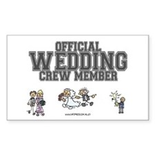 Official Wedding Crew Rectangle Decal