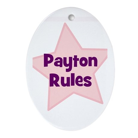 Payton Rules Oval Ornament