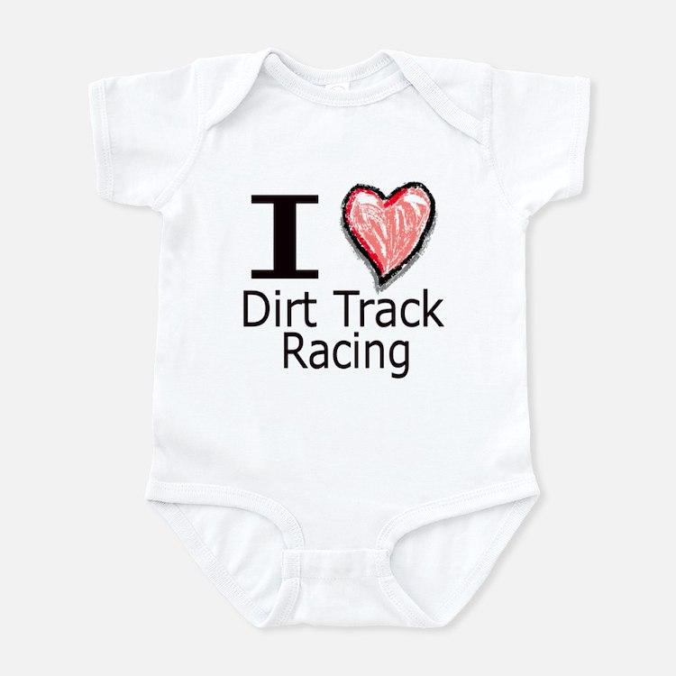 I Heart Dirt Track Racing Infant Bodysuit