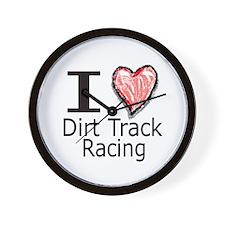 I Heart Dirt Track Racing Wall Clock