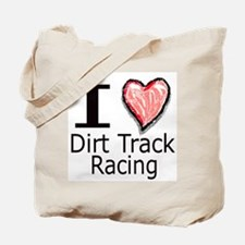 I Heart Dirt Track Racing Tote Bag