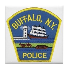 Buffalo Police Tile Coaster