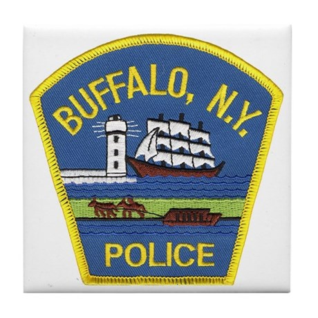 Buffalo Police Tile Coaster