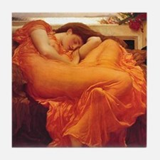 Flaming June orange woman classical art Tile Coast