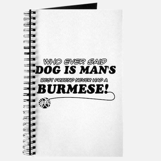 Burmese Cat designs Journal
