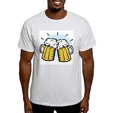 BEER MUGS Ash Grey T-Shirt