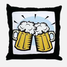 BEER MUGS Throw Pillow