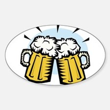 BEER MUGS Oval Decal
